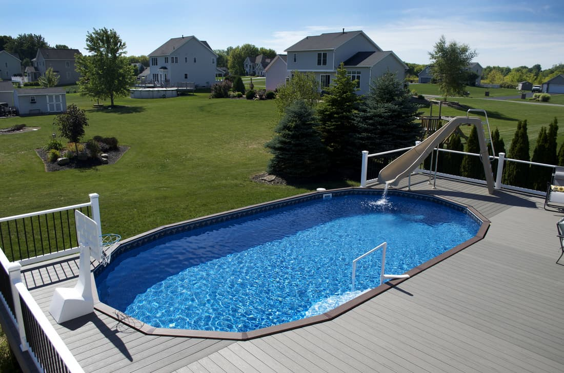 ultimate oval pool with sandbar tile